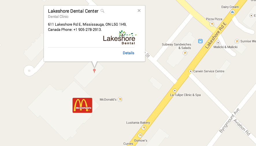 Lakeshore Dental Center on Map